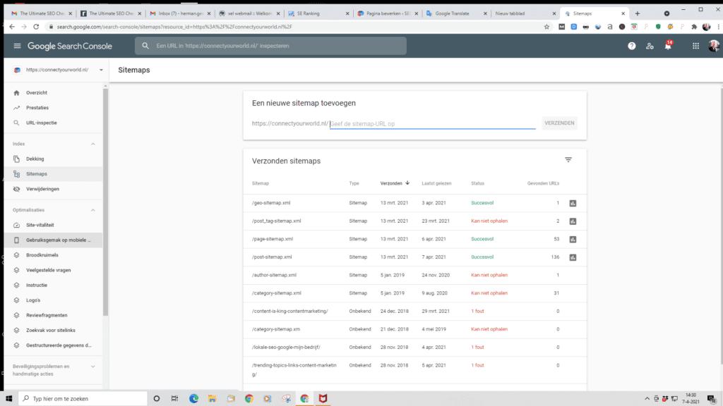 SEO checklist, Google Search Console