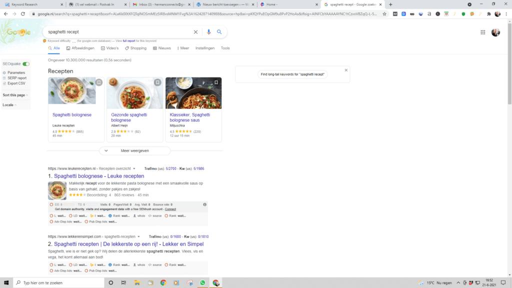 Technische SEO, Bovenaan in Google
